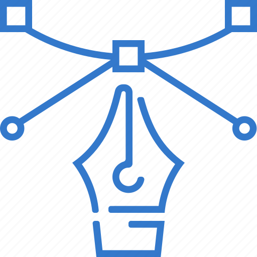 bezier, create, pen, pen tool, shape icon