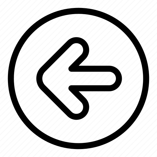 arrow, back, left, move, return icon