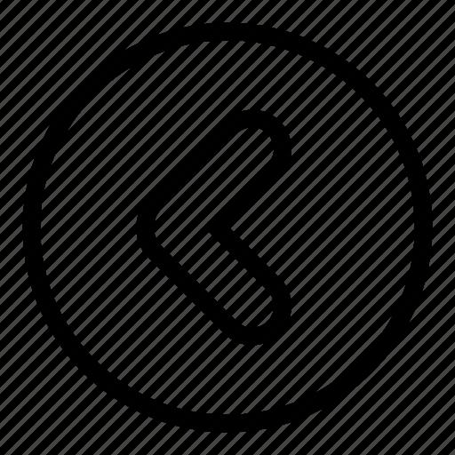 arrow, back, left, move icon