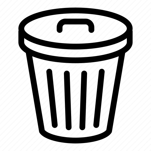 delete, garbage, recycle bin, remove, trash bin icon