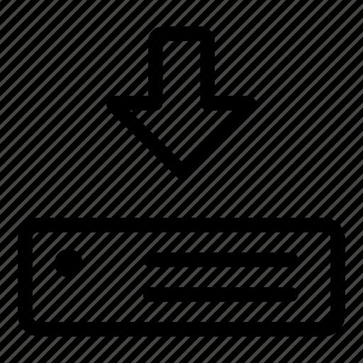 data, download, guardar, save, server, storage icon