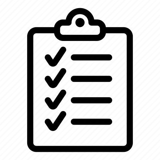 checklist, clipboard, list, report, tasks, ticks icon