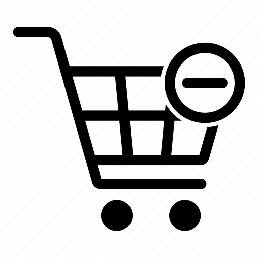 basket, buy, cart, minus, remove, sale, shopping icon