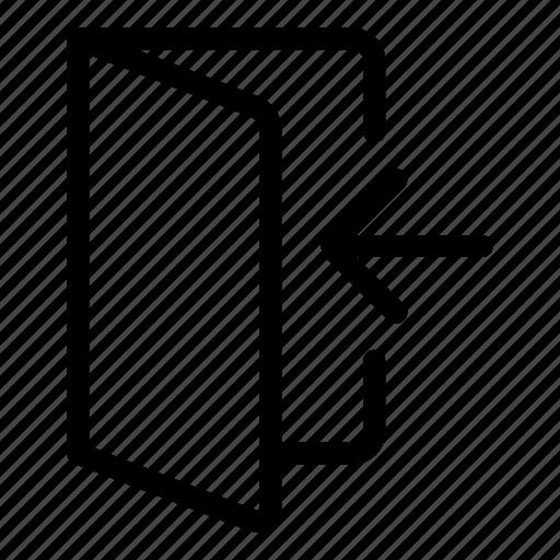 door, enter, inside, log in, sign in icon