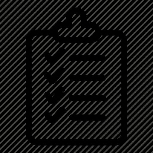 checklist, clipboard, delivery, list, report, tasks, ticks icon