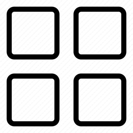 apps, grids, menu, views icon