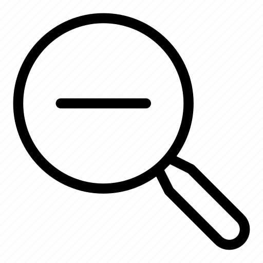 glass, magnifier, resize, zoom out icon
