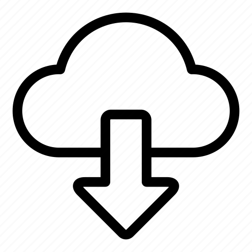 cloudy, data, disk, download, guardar, save, storage icon