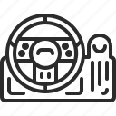 game, line, racing wheel, videogame icon