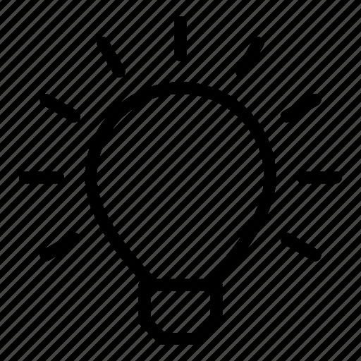 bulb, creative, energy, idea, innovation, light, power icon