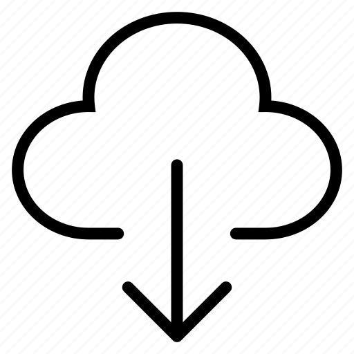 cloud, cloudy, download, forecast, server, storage icon