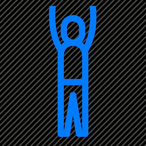Mountain, pose, upward, yoga icon - Download on Iconfinder