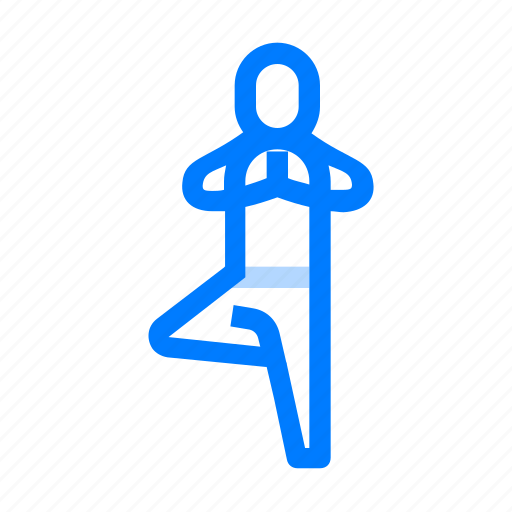 Pose, right, tree, yoga icon - Download on Iconfinder