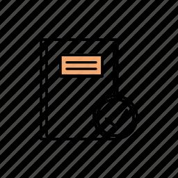 checked, correct, document, file icon