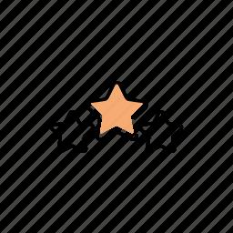 quality, rating, stars icon