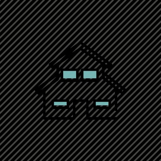 attic, floor, house, residential, window icon