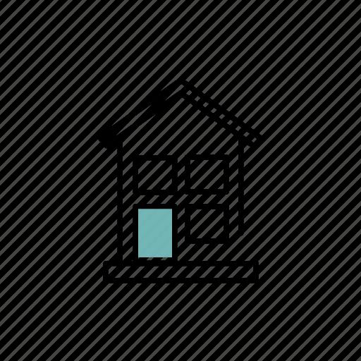 door, first, floor, house, residential, window icon