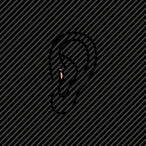 ear, hear, human, sound icon