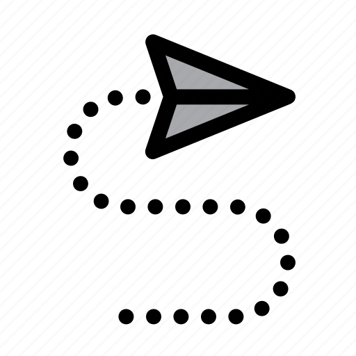 communication, conversation, email, mail, message, paper plane, send icon
