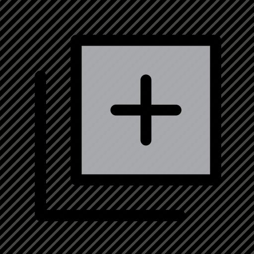 add, copy, documents, duplicate, files, paper, plus icon