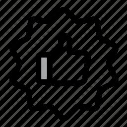 favorite, favourites, feedback, like, premium, quality, thumbs up icon