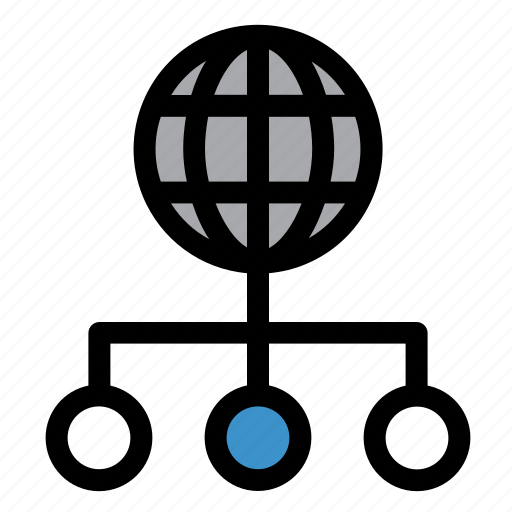 browser, connection, global, globe, nodes, social, web icon