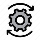 cog, configuration, gear, optimization, process, productivity, settings icon