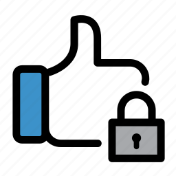 facebook, favorite, feedback, like, password, safe, secure icon