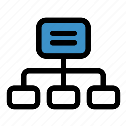 business, connection, corporation, hierarchy, management, organization, structure icon