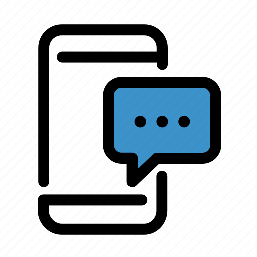 bubble, chat, communication, device, message, phone, smartphone icon