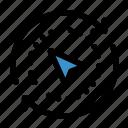arrow, compass, cursor, direction, gps, navigation, orientation