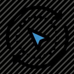 arrow, compass, cursor, direction, gps, navigation, orientation icon