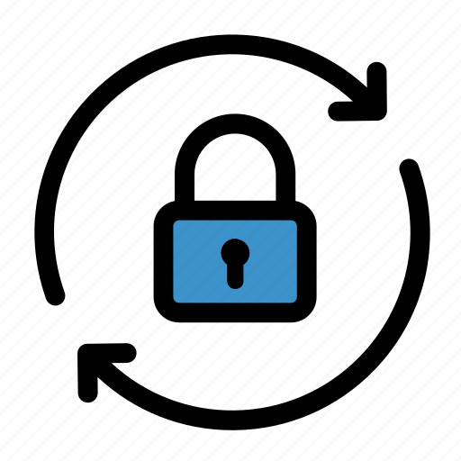 lock, password, password recovery, protection, safe, secure, security icon