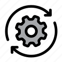gear, settings, process, optimization, cog, configuration, spin icon