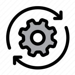 cog, configuration, gear, optimization, process, settings, spin icon