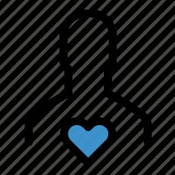favorite, favourite, health, heart, like, love, person icon