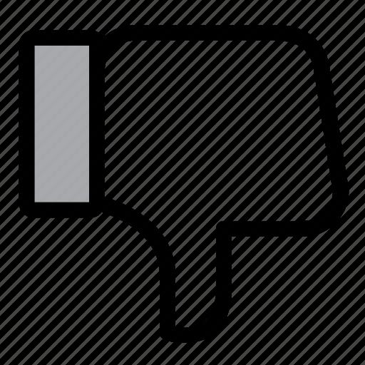 dislike, facebook, feedback, like, negative, social, thumbs down icon