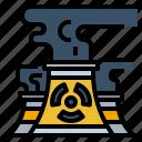 nuclear, plant, chimney, dangerous, energy, radiation, power