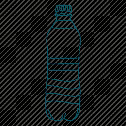 bottle, bottled, drink, filtered, water icon