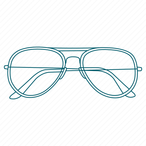 aviator, glasses, prescription, see, sunglasses, travel icon