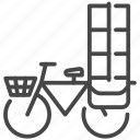 bike, carry, delivery, overweight, transport icon