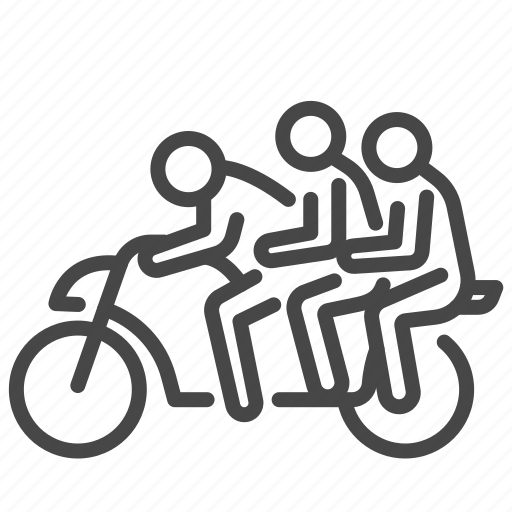 carry, delivery, motorbike, overweight, passengers, pillion icon