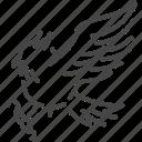 bird, birds of prey, fly, glide, gliding, owl, wings icon