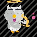 angel, emoji, emoticon, owl, smiley, sticker icon