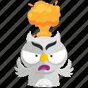 emoji, emoticon, mindblown, owl, smiley, sticker icon