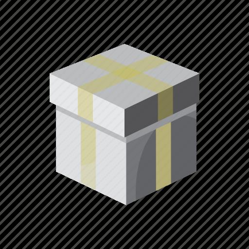 box, cartoon, celebration, gift, holiday, present, ribbon icon