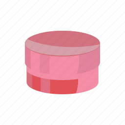 box, cardboard, cartoon, gift, package, packaging, round icon