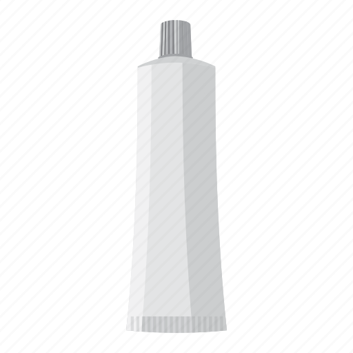 cartoon, cosmetic, cream, gel, medical, toothpaste, tube icon