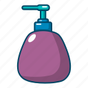 cartoon, cosmetic, dispenser, pump, fruit, hand, spa icon