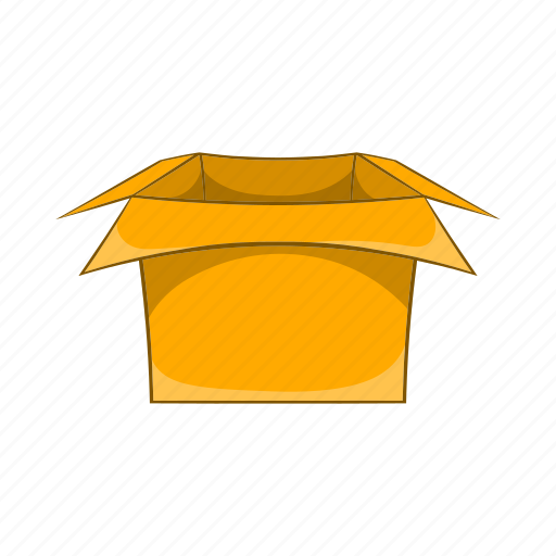 blank, box, carton, cartoon, container, pack, sign icon